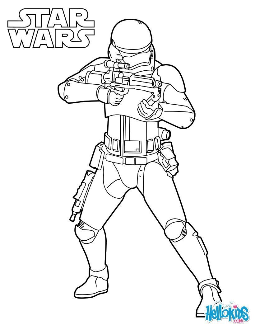 Stormtroopers Coloring Page More Star Wars Coloring Sheets On