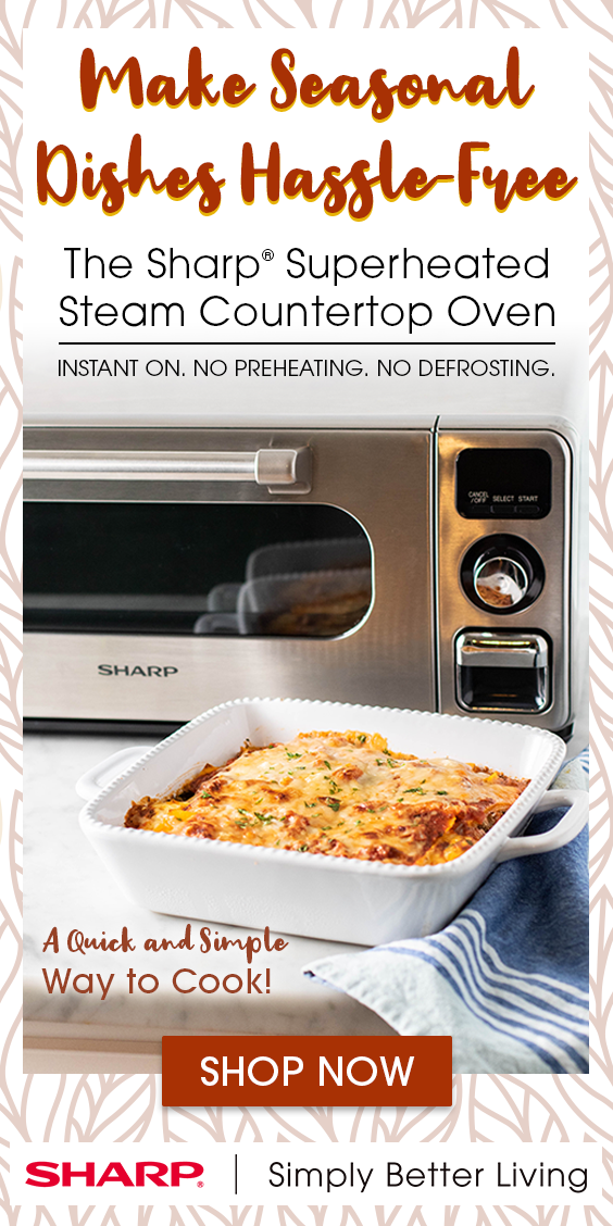 With The Sharp Superheated Steam Countertop Oven Cooking