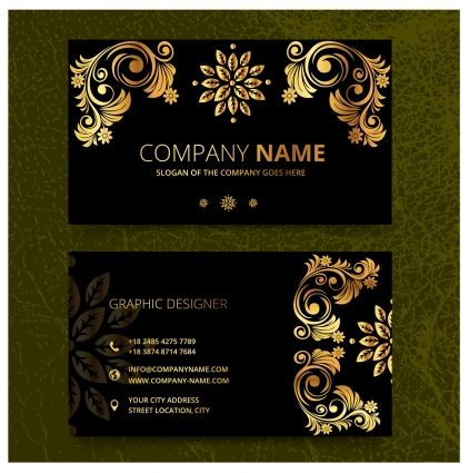 Elegence Vintage Business Card Templates Free Vector In Adobe Illustrator A Vintage Business Cards Template Vintage Business Cards Free Business Card Templates