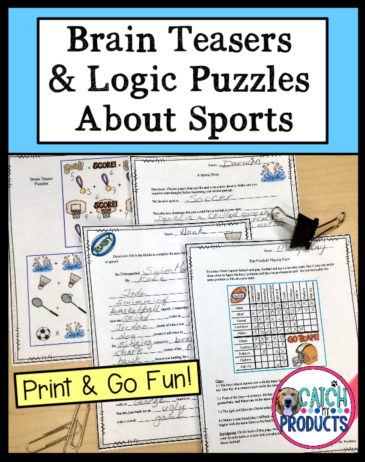 Logic Puzzles Brain Teasers For Kids In