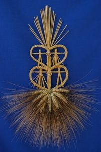 Scandinavian Folk Tree Wheat Weaving Nature Crafts Art Norway