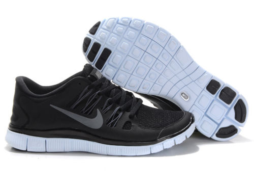 online retailer c83df 70965 Nike Free 5 0 Mens Running Shoe Black Grey White