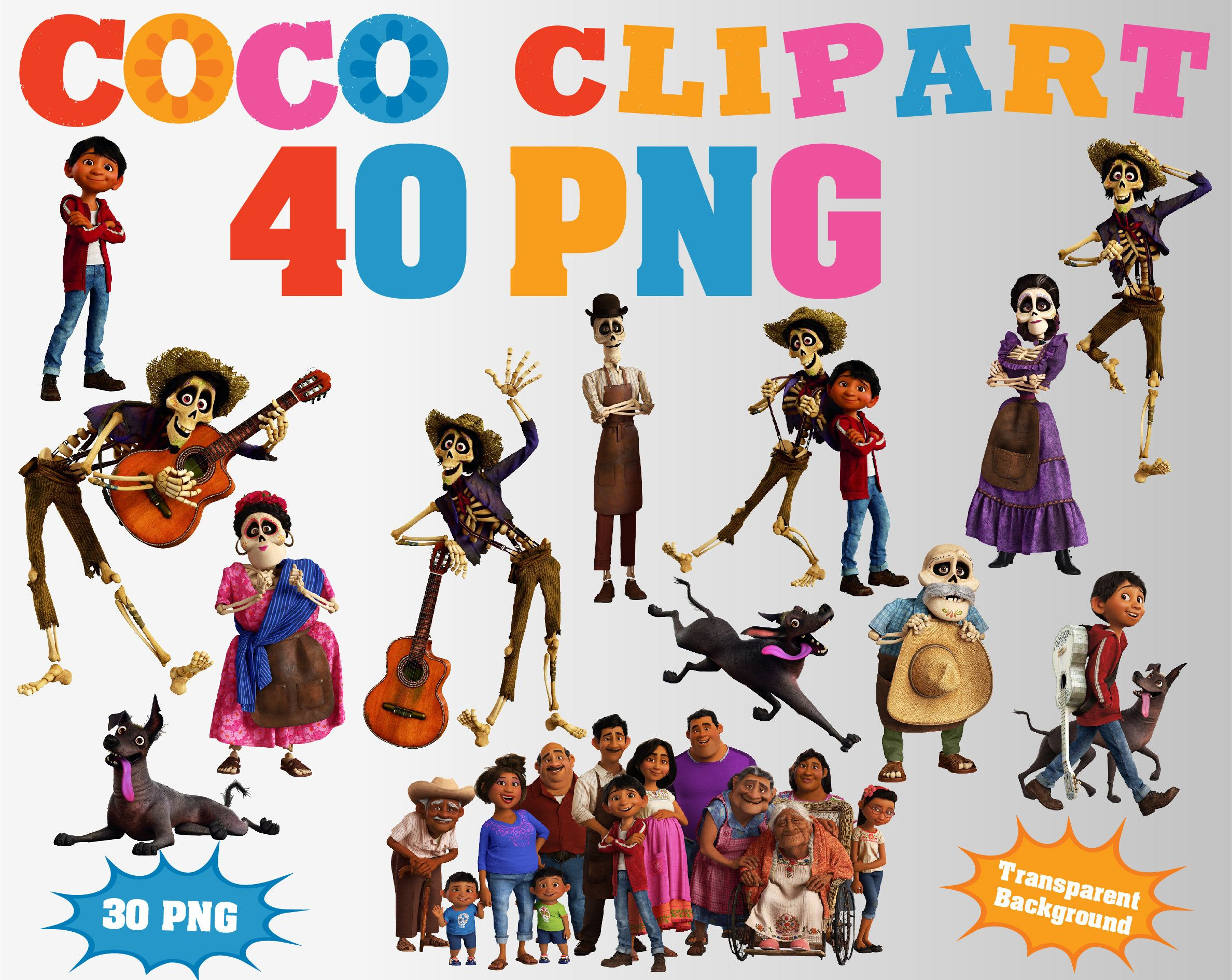 Coco Movie 2017 Clipart 40 Png Transparent Background Clip Art Birthday Decorations Kids Coco
