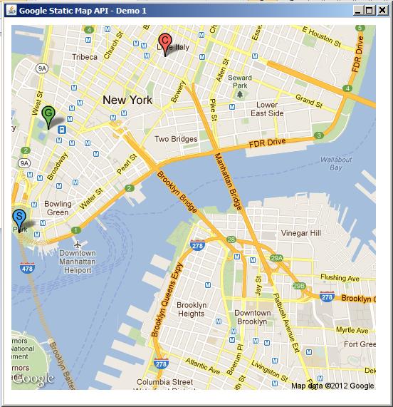 Simple Implementation Of Google Maps In Java Dekstop(swing