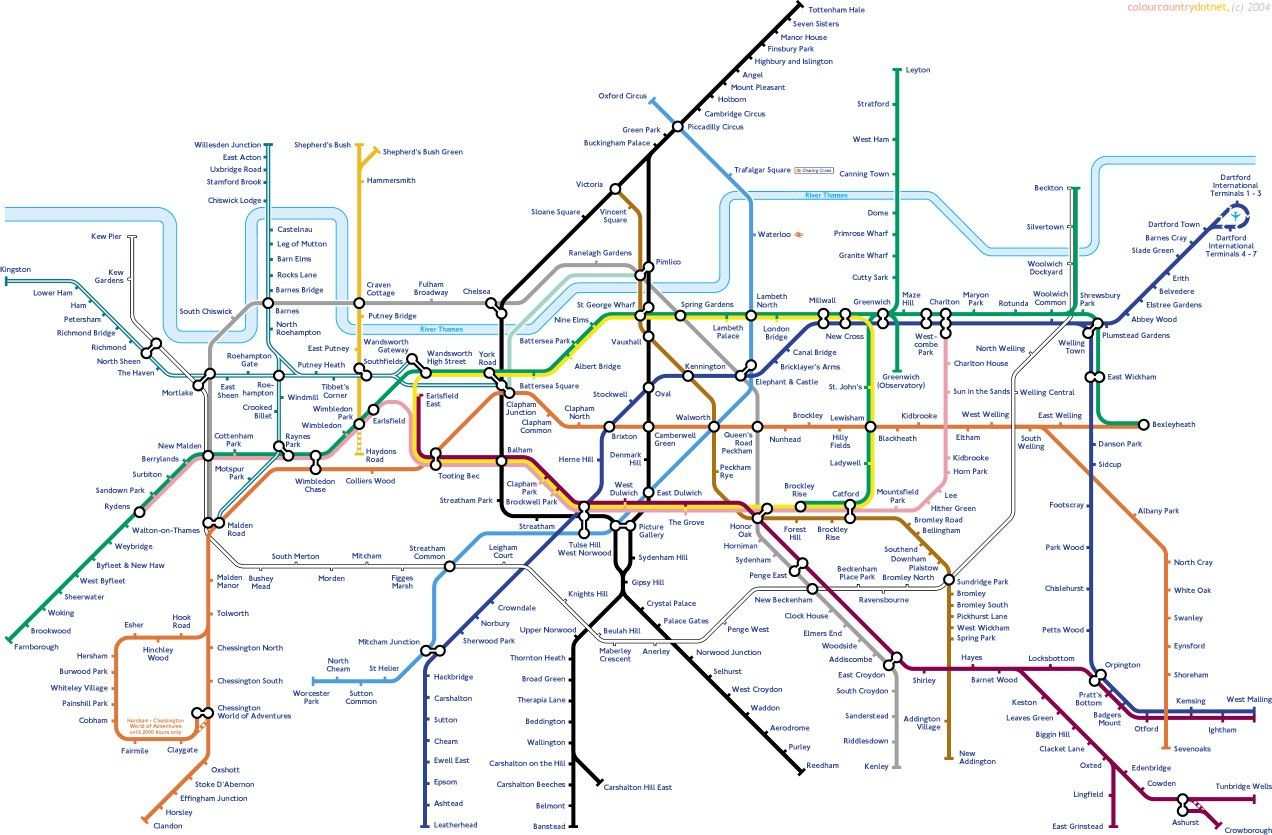 South London Map.The South London Biased Tube Map London Tube Map London