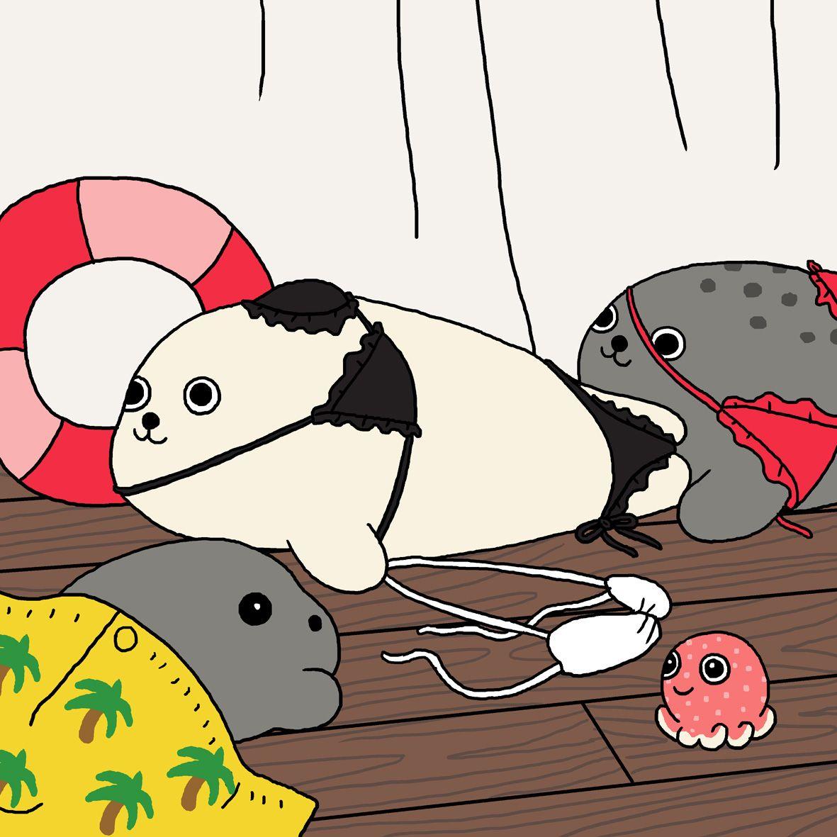 милые рисунки тюлень