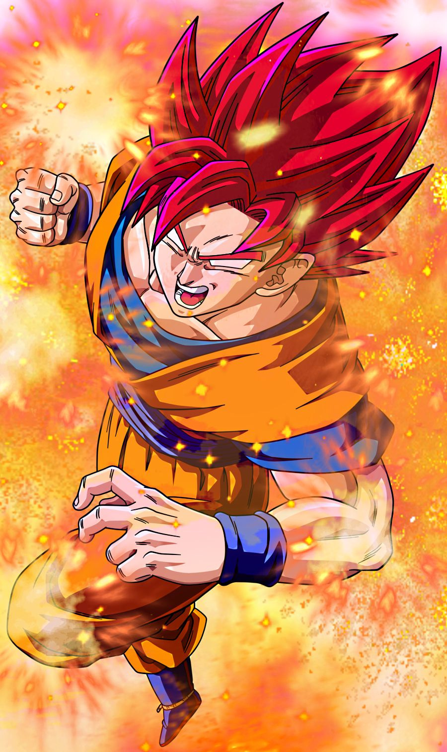 9f8536eb5a Super Sayian Goku GOD | Goku | Dragon ball gt, Dragon ball, Dragon ...