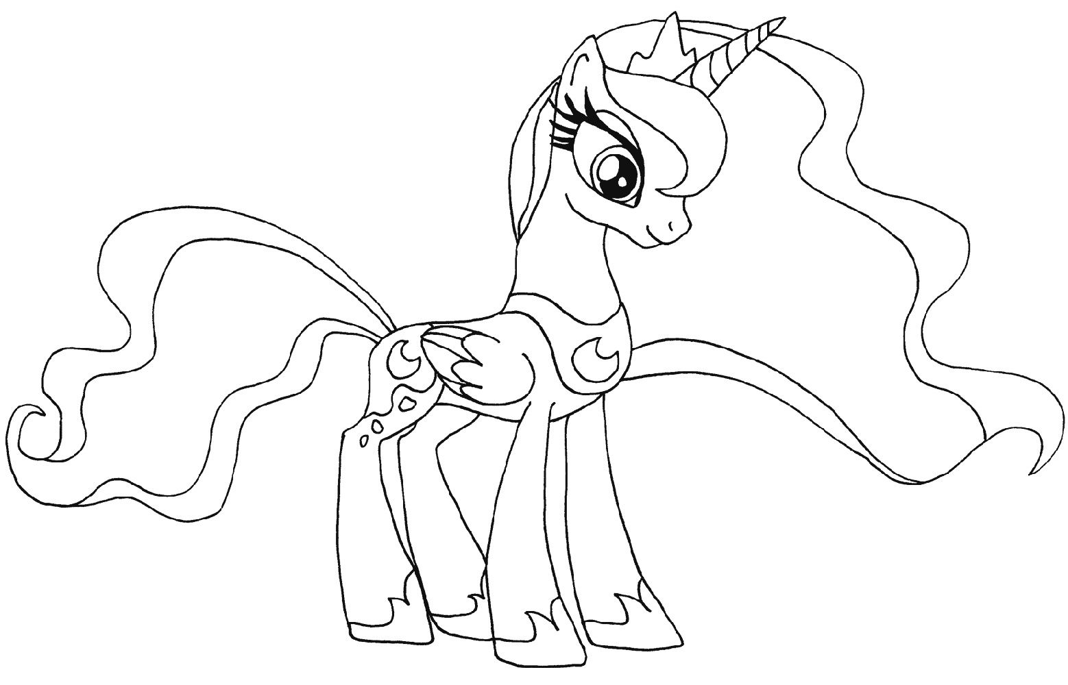My Little Pony Coloring Pages Luna  K15 Worksheets  My little