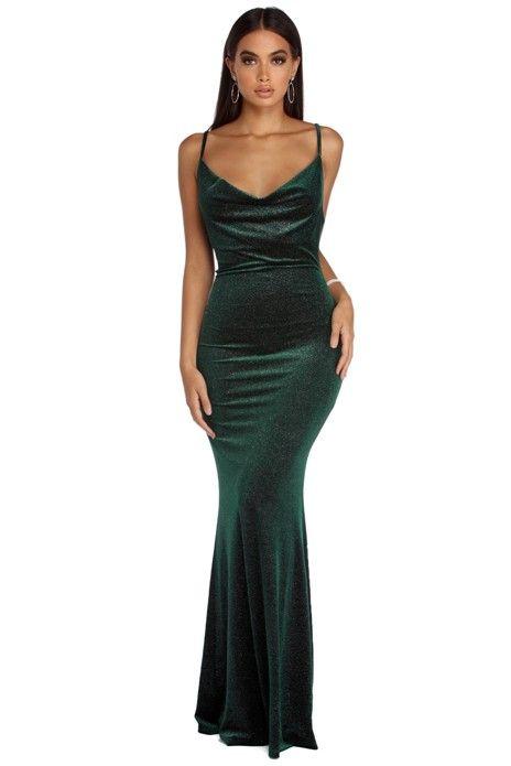 c252cb790f Jolene Formal Glitter Velvet Dress in 2019