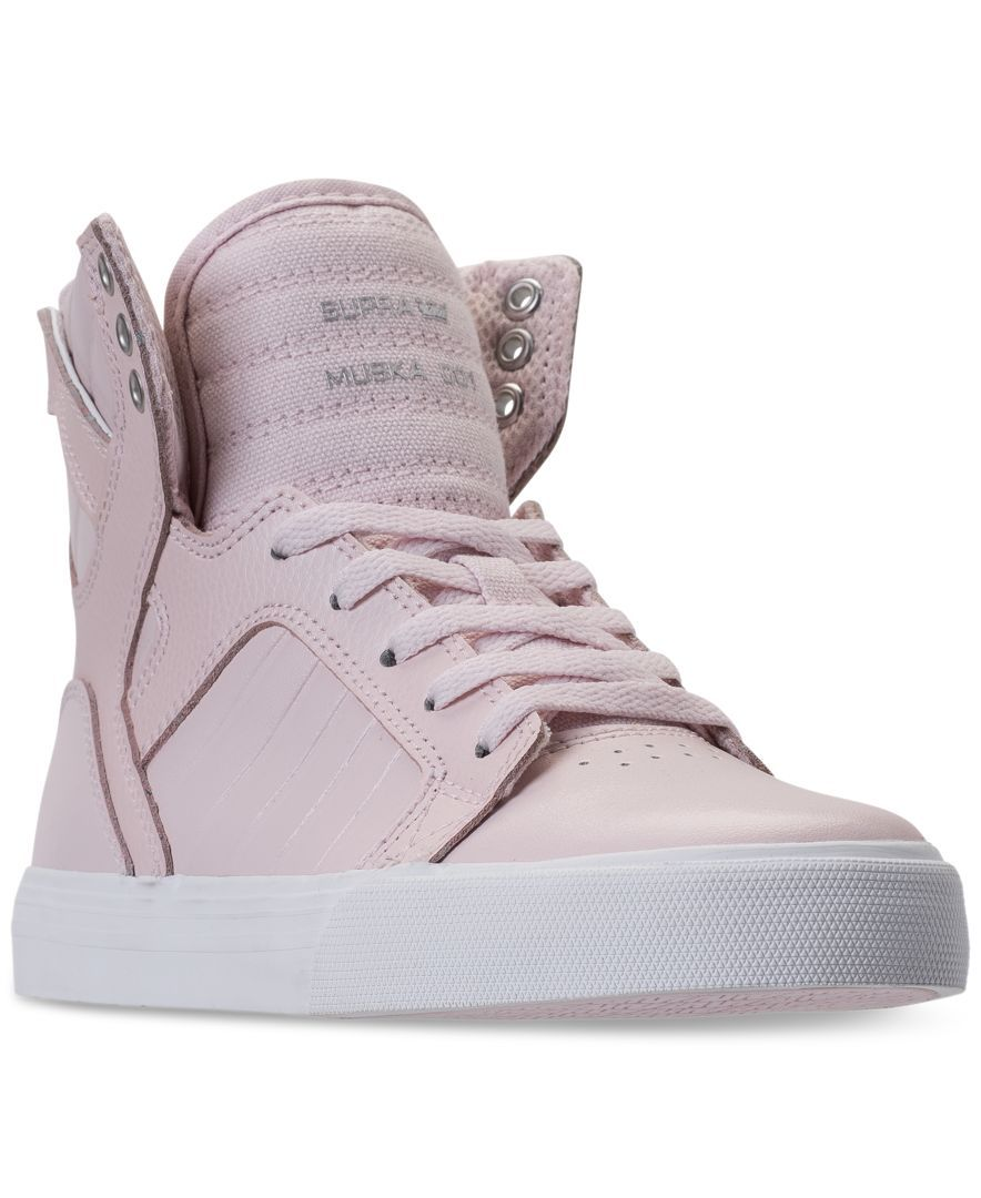 65d14e54c77 Supra Girls' Skytop Metallic High-Top Casual Sneakers from Finish Line