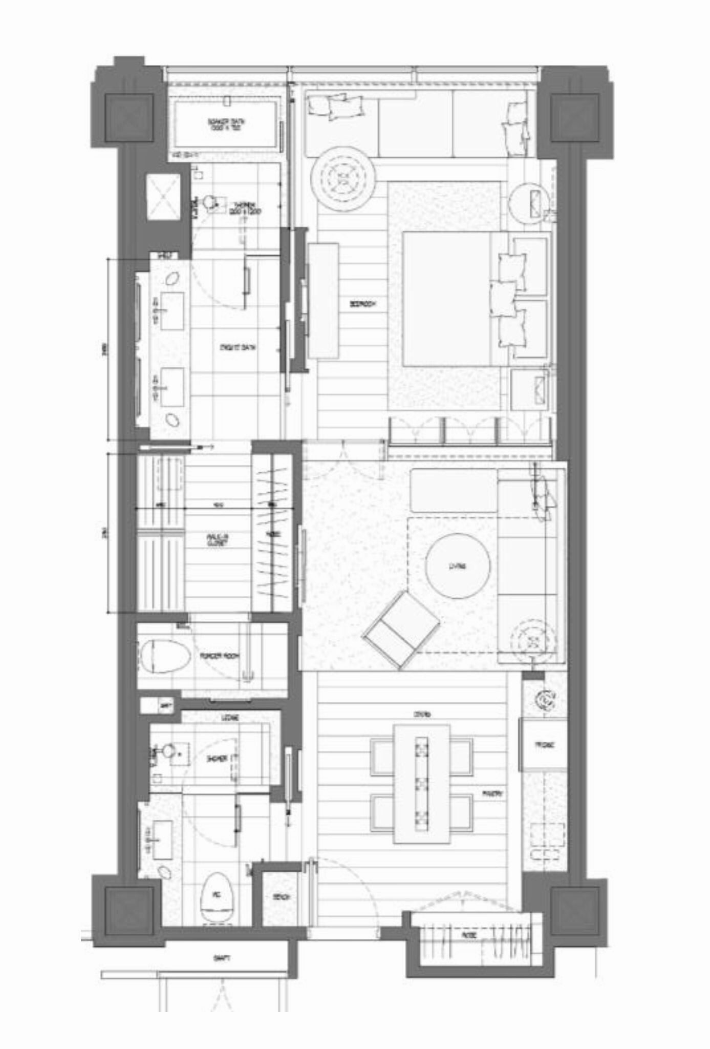Park Hyatt Niseko Hanazono Park Room 65 Sqm Hotel Room Design Plan Hotel Suite Floor Plan Hotel Room Plan