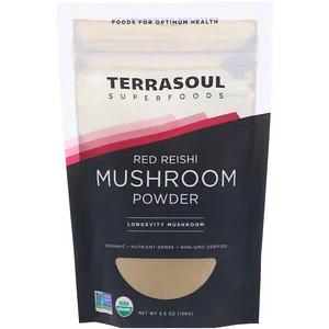 Terrasoul Superfoods 赤霊芝きのこパウダー 5 5 Oz 156 G Discontinued Item 버섯 유통기한 파우더