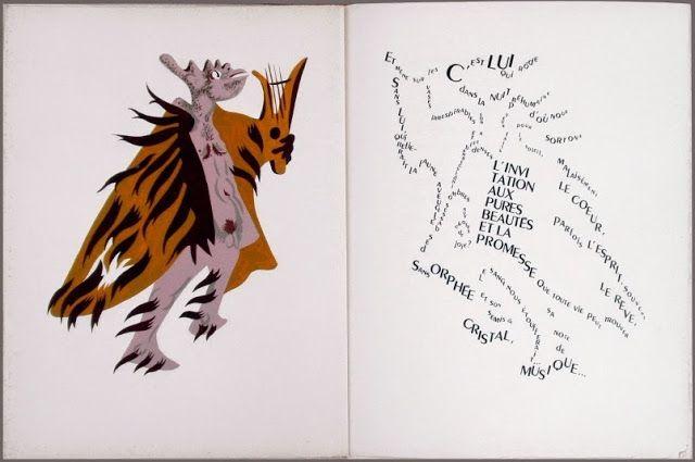 *Le Craporphée* IN: Le Bestiaire Fabuleux, a book of poems and calligrams (1950) by Patrice de la Tour de Pin, Jean Lurçat, Edmond Vairel + Jules-Dominique Morniroli