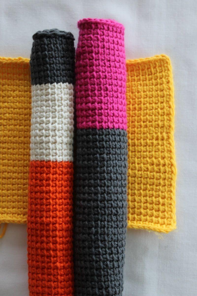 DYI – Waschlappen mit echtem Afghan Crochet | Waschlappen, Tunesisch ...