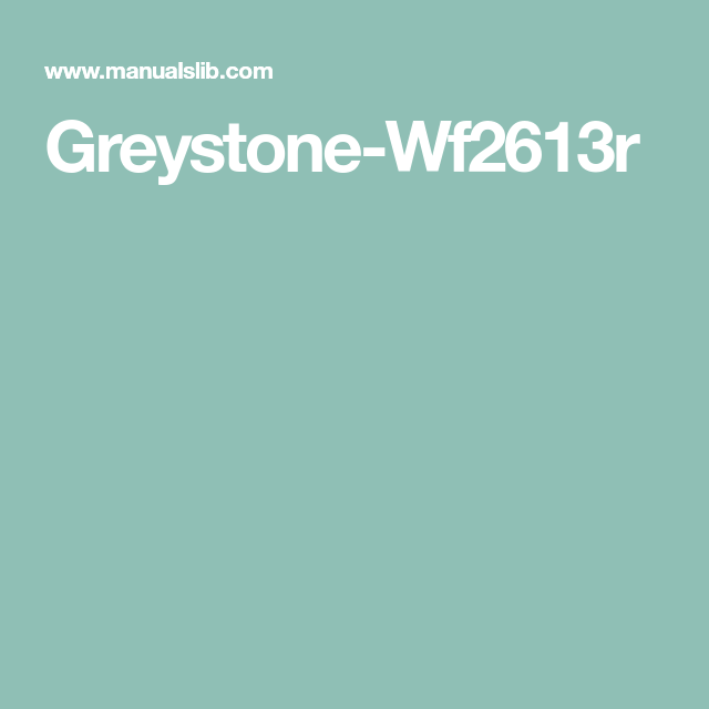 Greystone Wf2613r Camper Fireplace Owners Manuals Manual