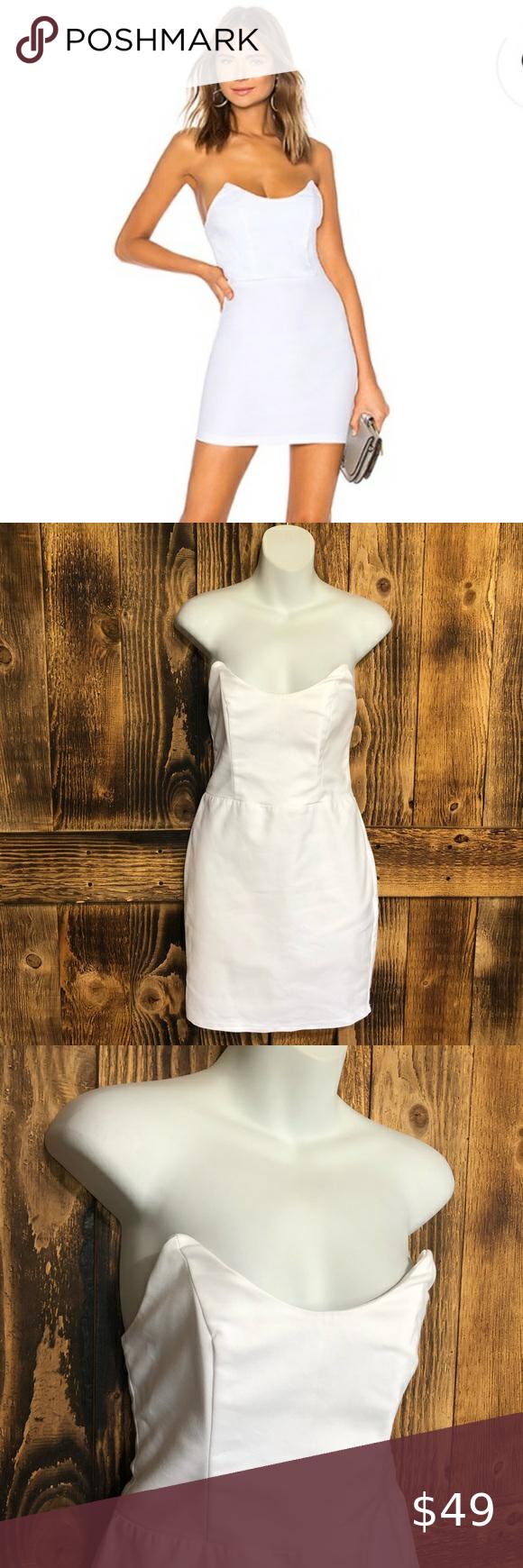 Superdown Strapless Mini Dress White Sz Small White Form Fitting Strapless Mini Dress Superdown Siz Strapless Mini Dress White Mini Dress White Dress [ 1740 x 580 Pixel ]