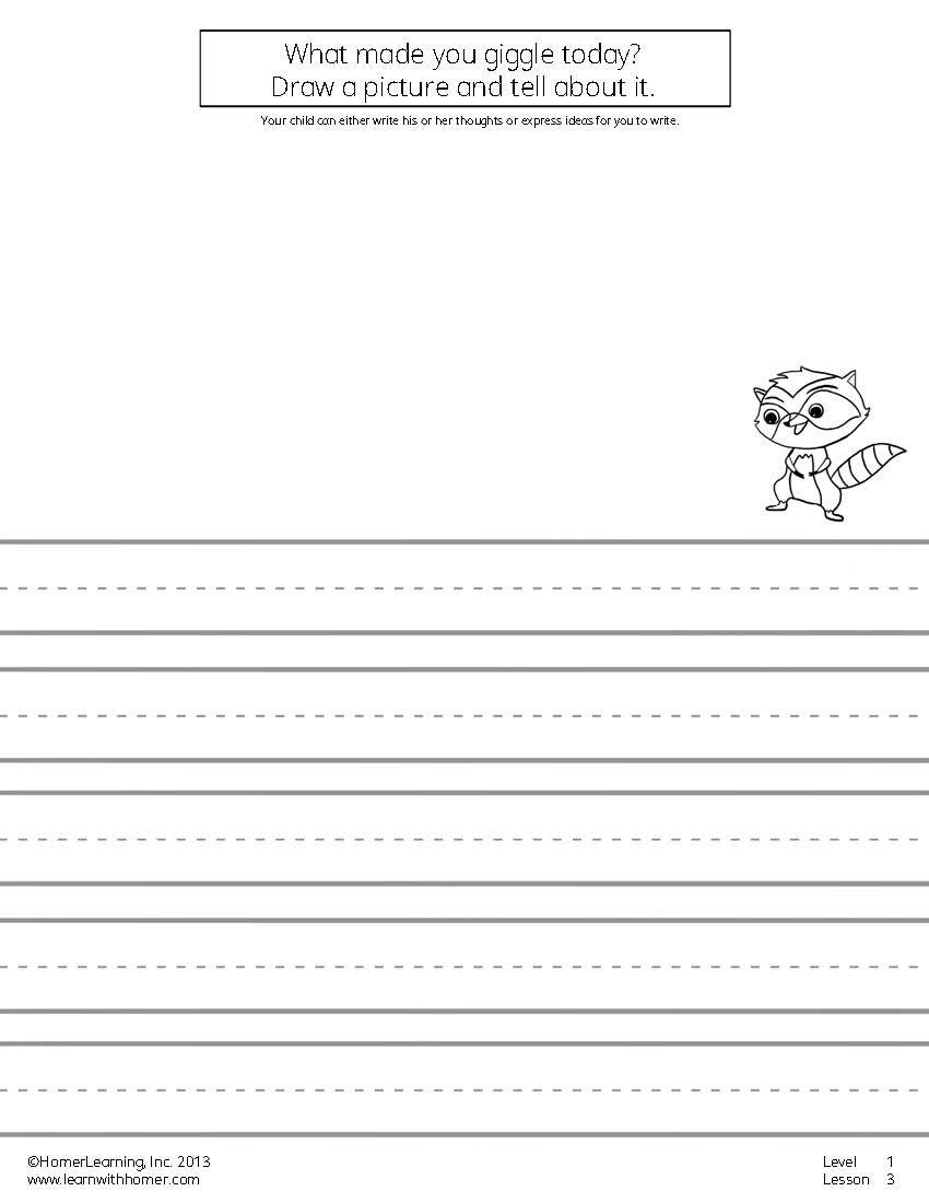 Pin On School Read write draw printables