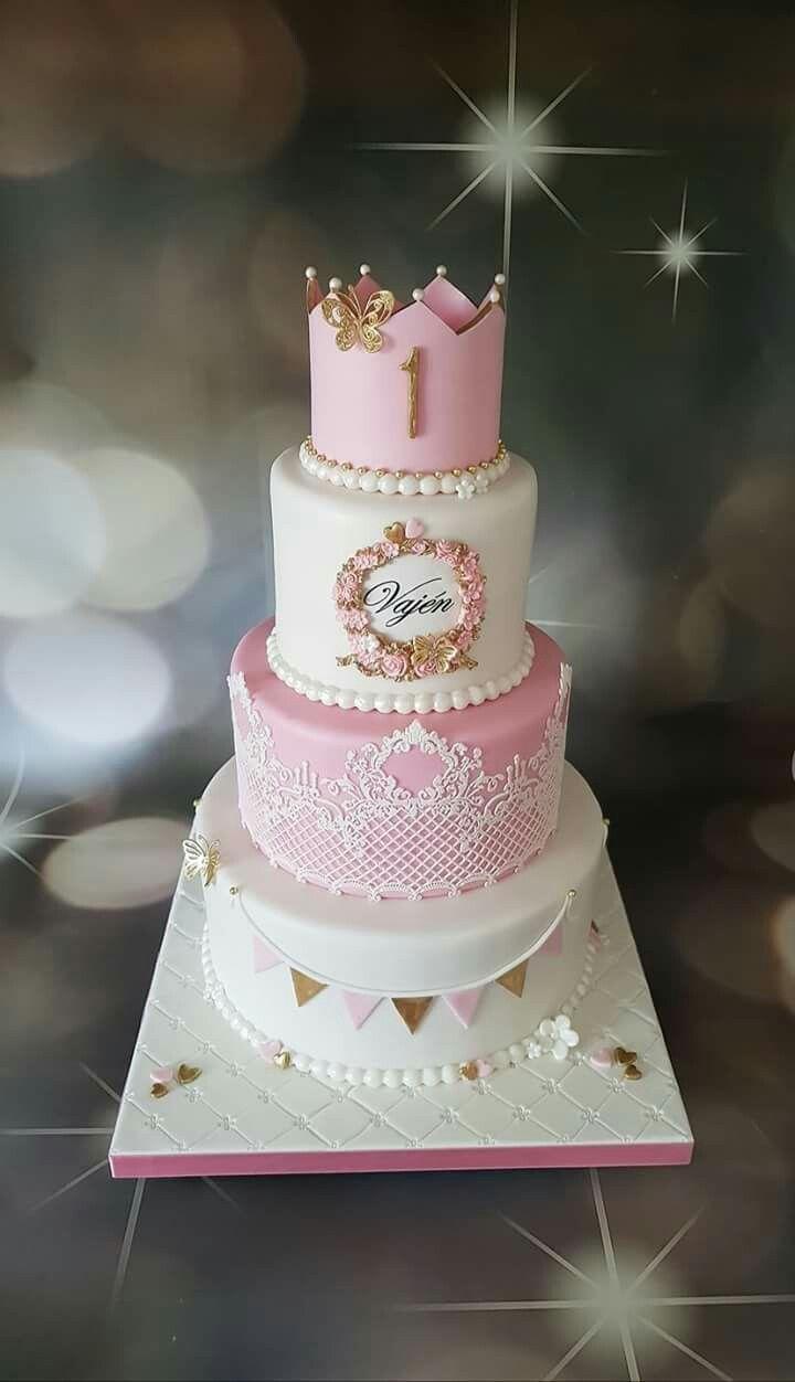 Pretty Tiered Cake Bolo De Festa