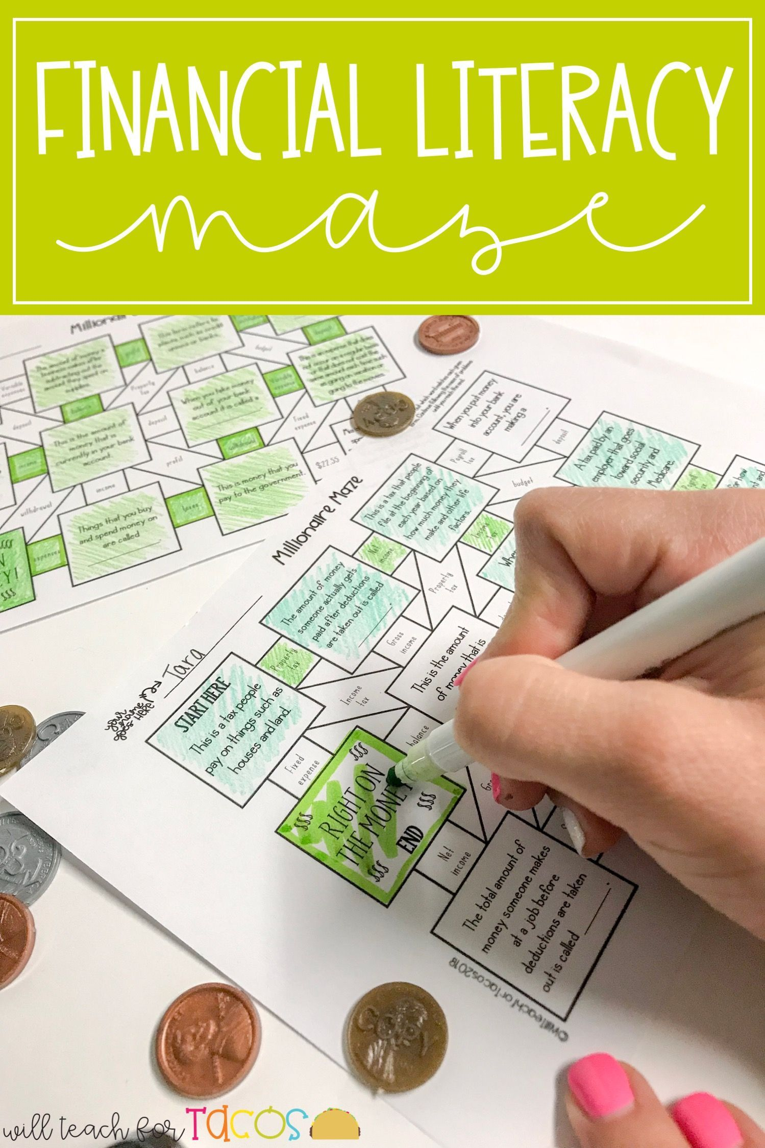 Two Financial Literacy Mazes For 4th And 5th Grade