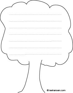 picture regarding Printable Story Paper named Printable# homeschool tale paper, tree form with traces