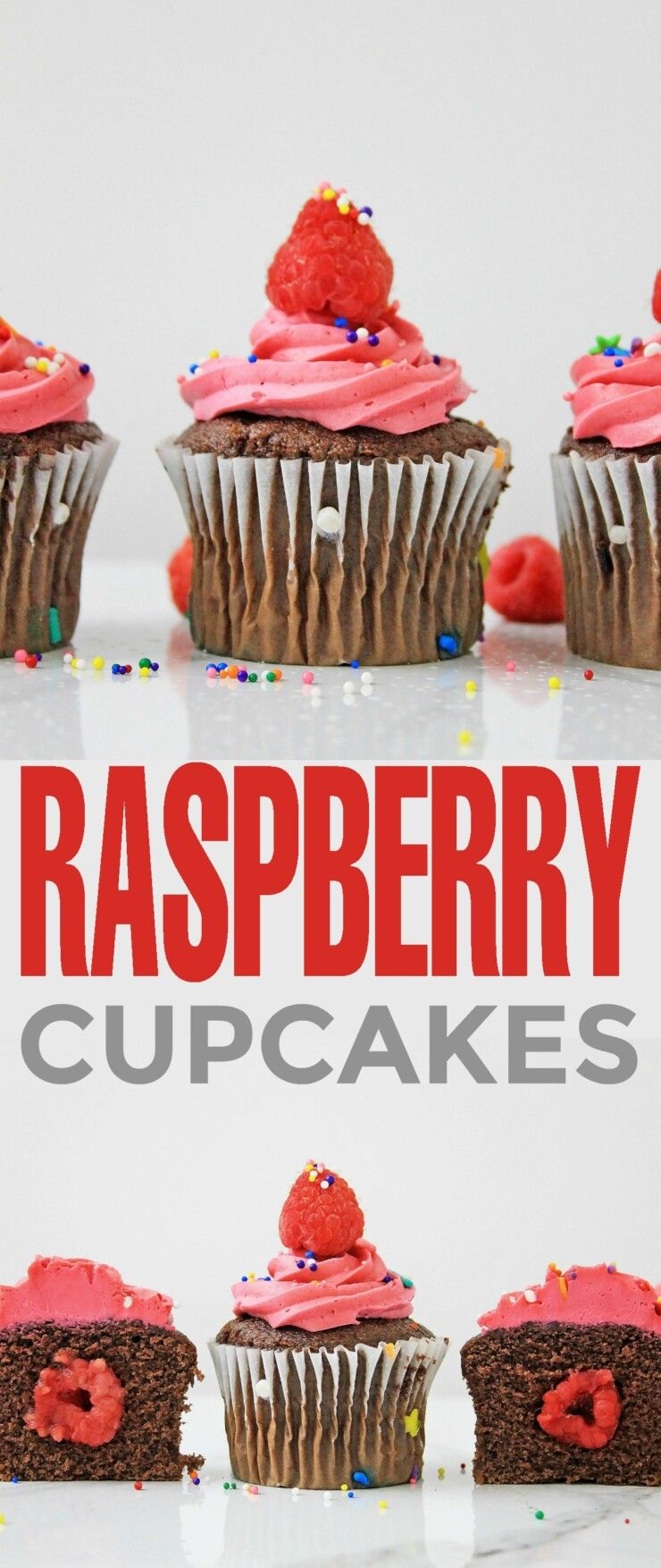 These Raspberry Cupcakes Will Take You Back To Summer Time They Re So Good Easy To Make And A Real Dessert Recipes Easy Raspberry Cupcakes Cupcake Recipes
