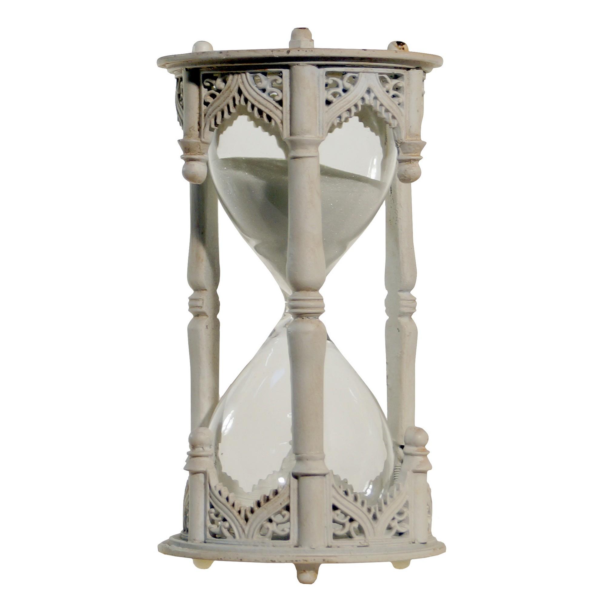 VIP Home & Garden Decorative Hourglass White (6 x3 ) | Hourglass ...
