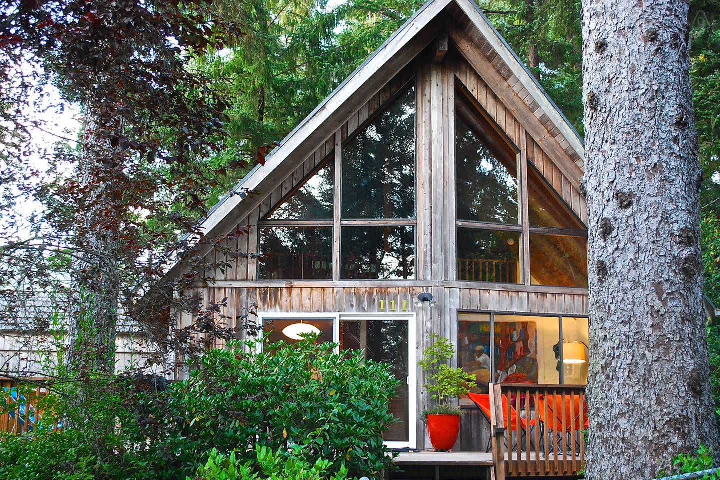 Front Of The Cabin W/ Big Sunny Deck.   Get $25 Credit With Airbnb