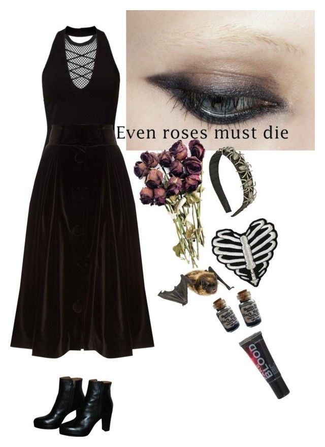 """""""even roses must die"""" by amerisal ❤ liked on Polyvore featuring Dsquared2, Miss Selfridge, A.W.A.K.E., Urban Outfitters and Tarina Tarantino"""