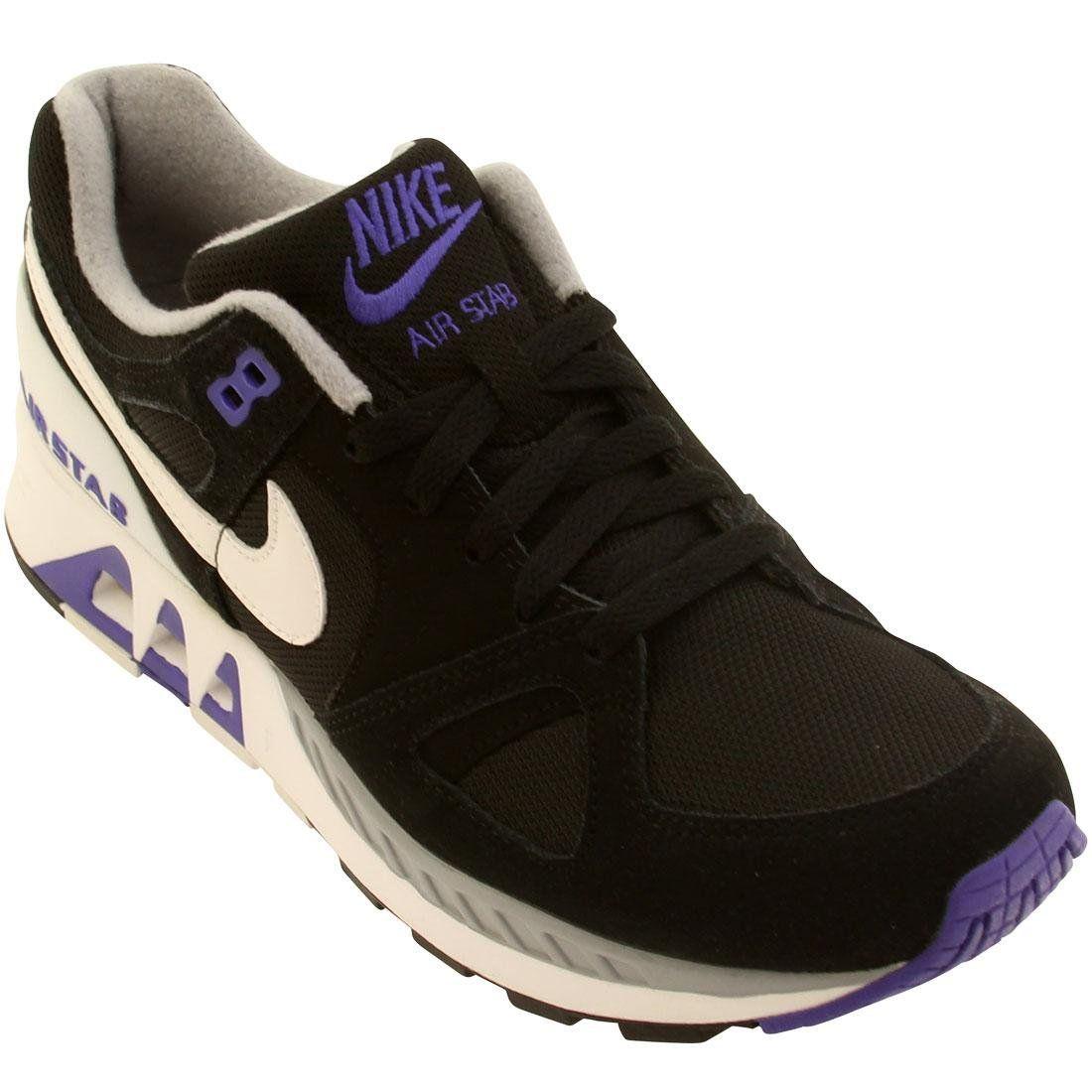 Nike Air Stab Mens Running Shoes 312451-005 Black White-Persian Violet 10.5  M 4ee7c380ab