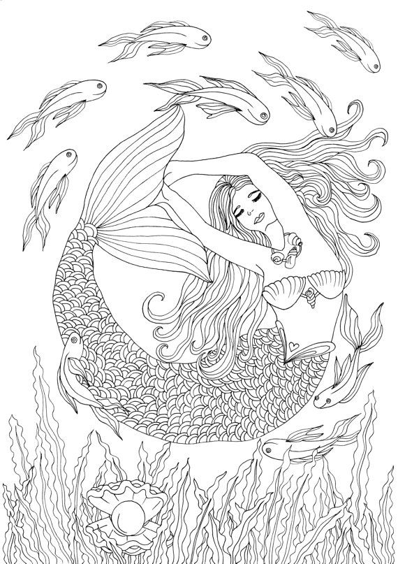 Treasures In The Ocean Adult Coloring Pages By Joenay