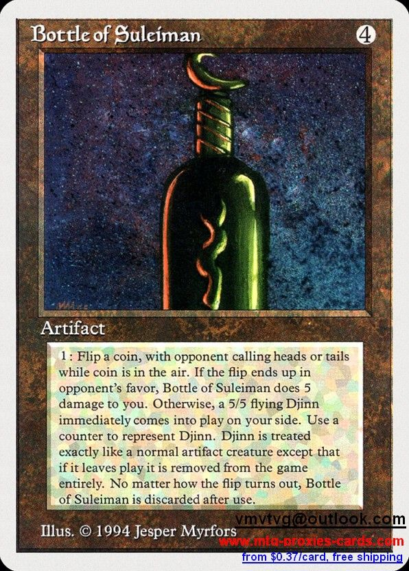 Bottle Of Suleiman.xlhq Magic The Gathering Proxy Mtg Proxies Cards  Customize From 0.37$