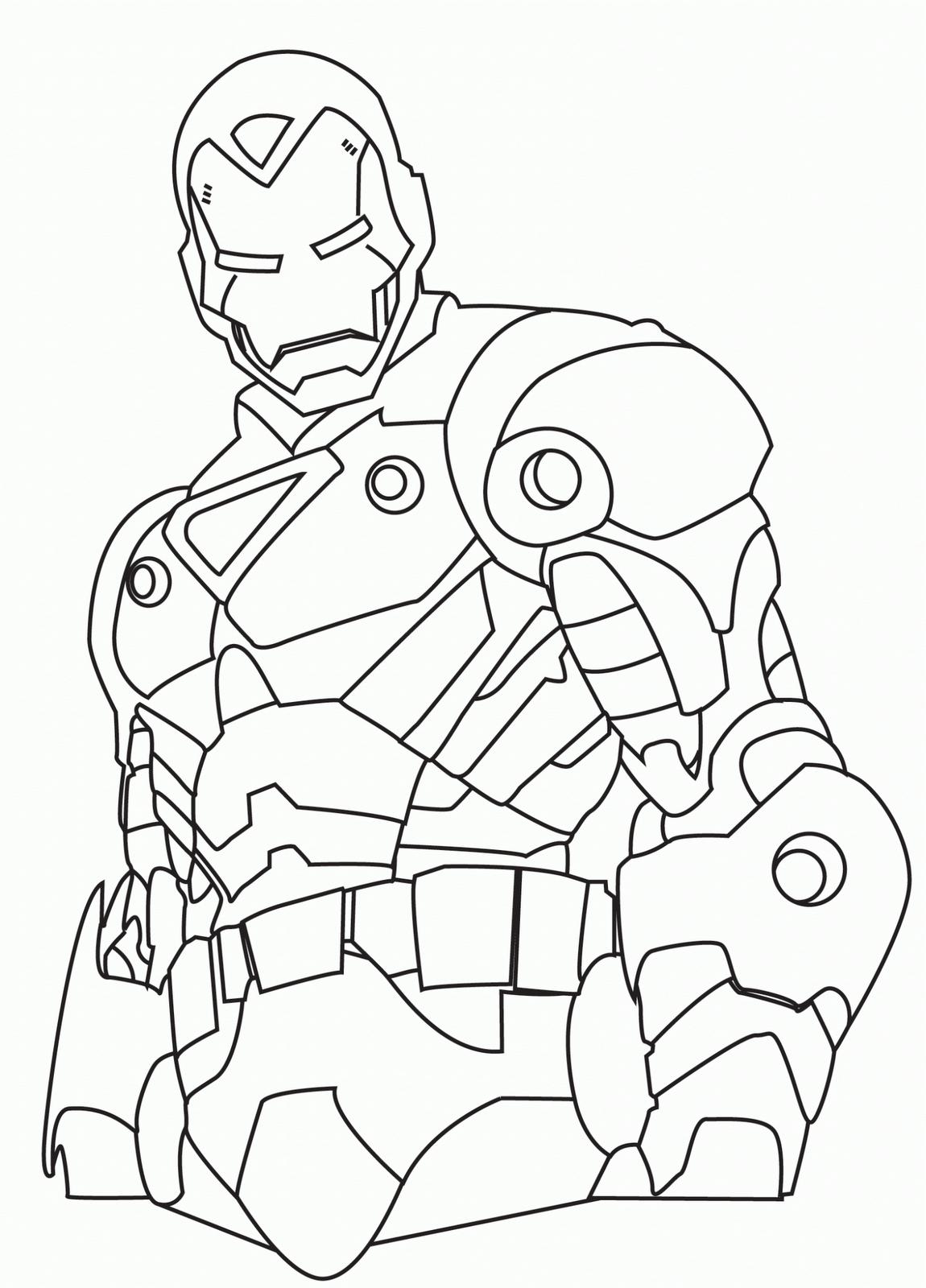 Colorear Iron Man 2 5 Dibujos Infantiles 1 150×1 600 Pixels