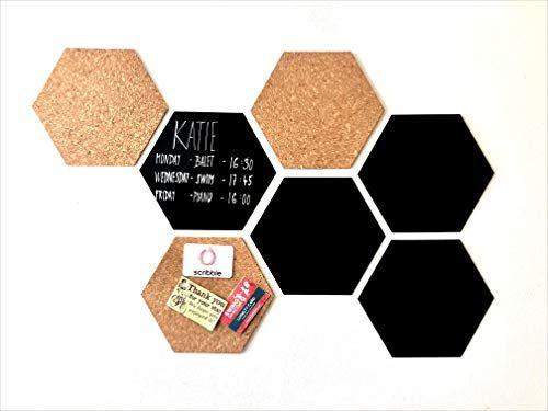 Scribble Hexagon Bulletin Board/Chalkboard, Pack of 7 #octoberbulletinboards