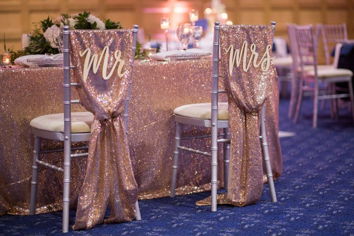 Wedding Shoot At The Mandolay Hotel In Guildford Surrey Rose Gold Chair Wedding Chair Decorations Wedding Chairs