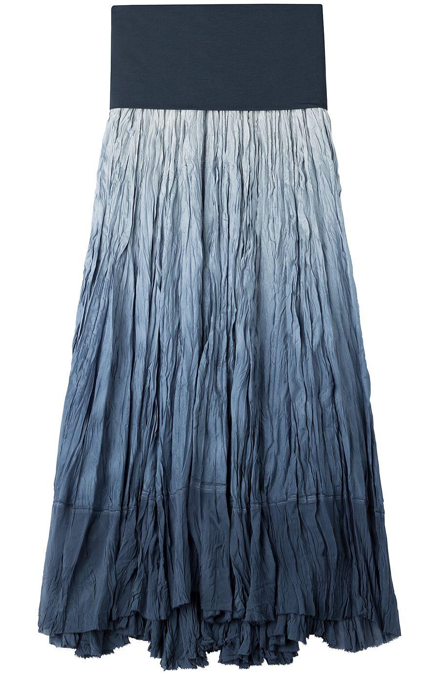 Donna Karan New York : Crinkled Silk Maxi Skirt || StyleBop | Mini ...