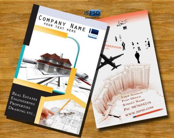 brosur flyer template gratis download property company brochures