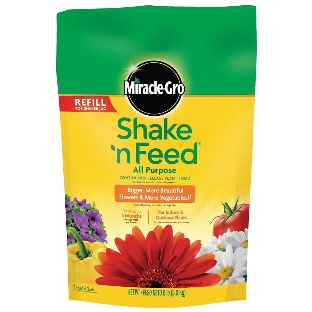 Miracle-Gro Shake 'N Feed 8 lb. All Purpose Continuous Release Plant Food Refill Bag.