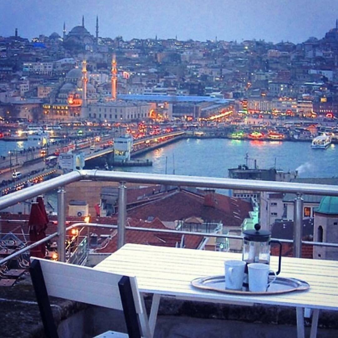 Ak am terasta b yle bitirmek pahabi ilemez galata istanbul istanbulplace apartments otantik evler