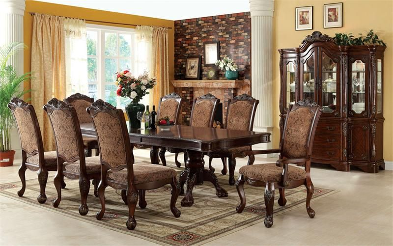 111 cromwell antique cherry formal dining table set for Cherry formal dining room sets