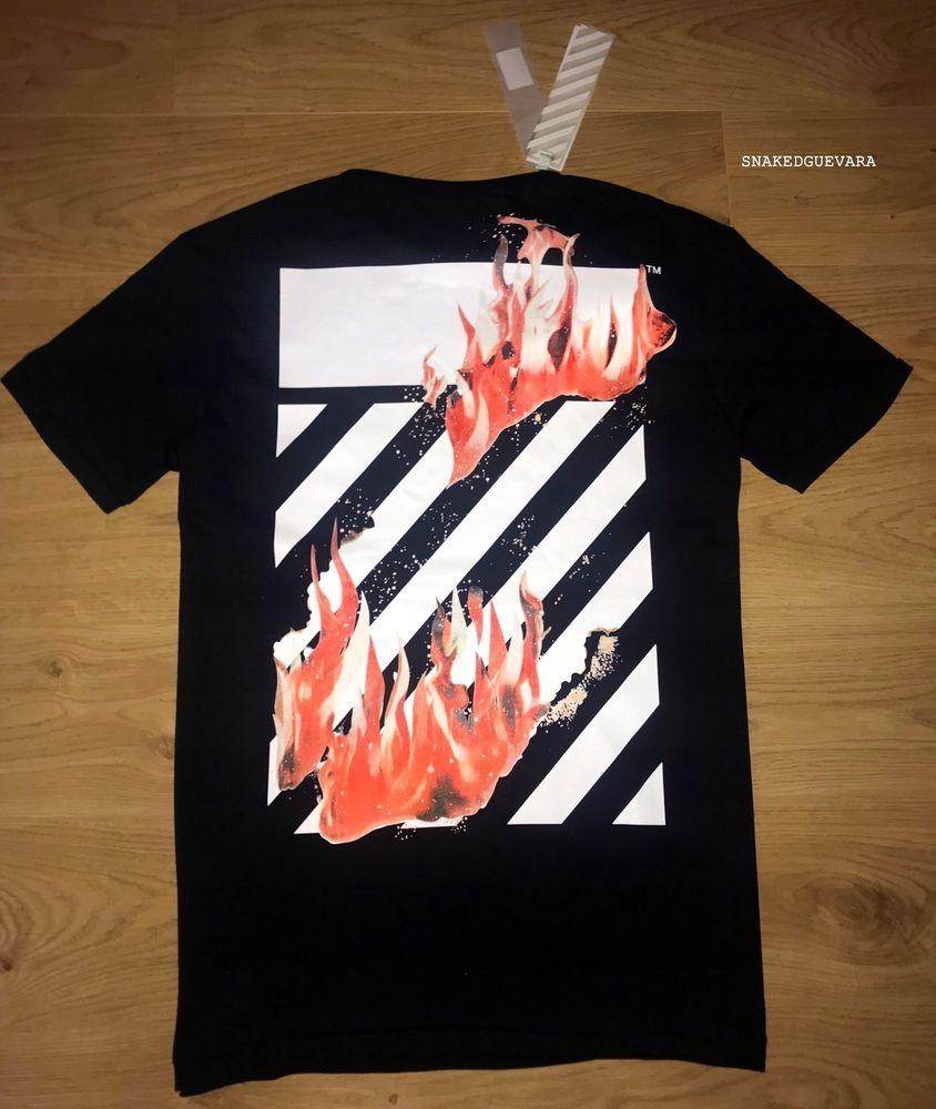 ad59ed7f2b Off-White Flame Graphic Tshirt Mens c/o Virgil Abloh Black M #fashion  #clothing #shoes #accessories #mensclothing #shirts #ad (ebay link)