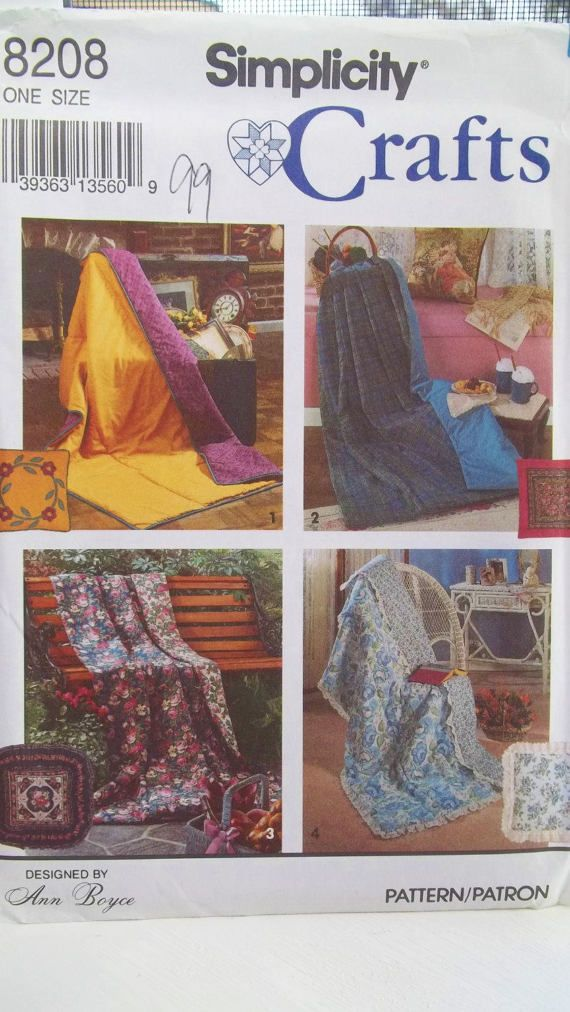 Simplicity 8208 Crafts Sewing Pattern, Quilt in a Pillow, Pattern ...