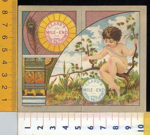 Calendario Calendarietto Clark's Merceria 1881 Cherubino Su Ramo
