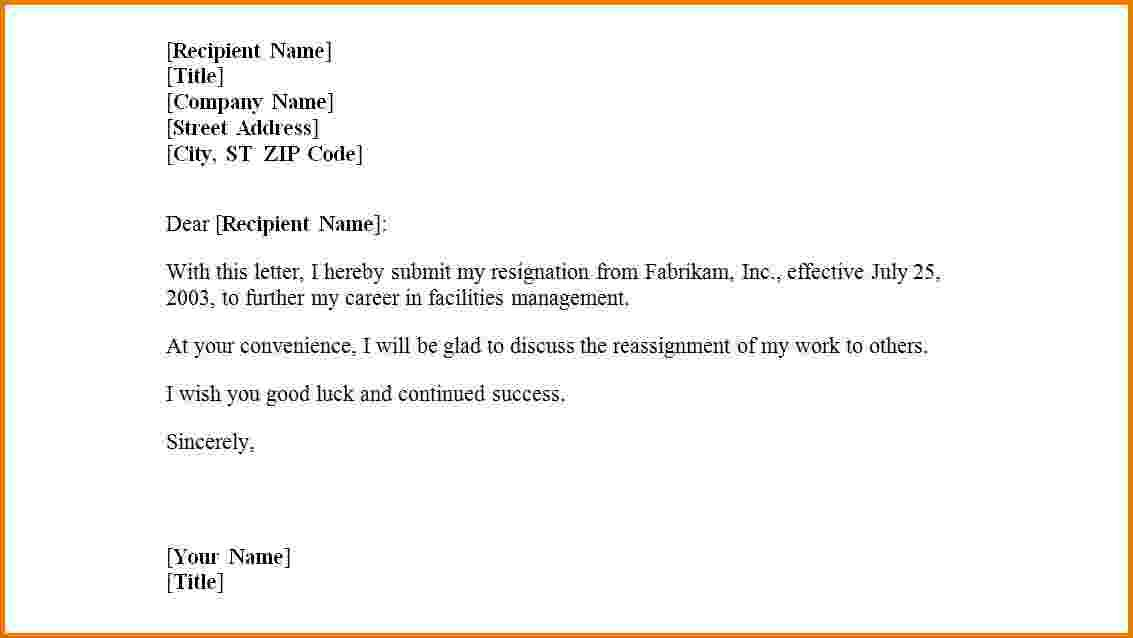 First Job Resignation Letter Templateg Employment Certification