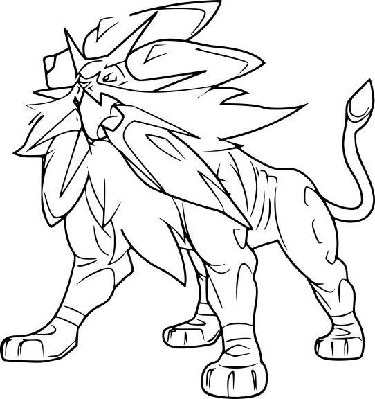 Coloriage Solgaleo Pokemon Coloriagepokemon 画像あり 塗り絵