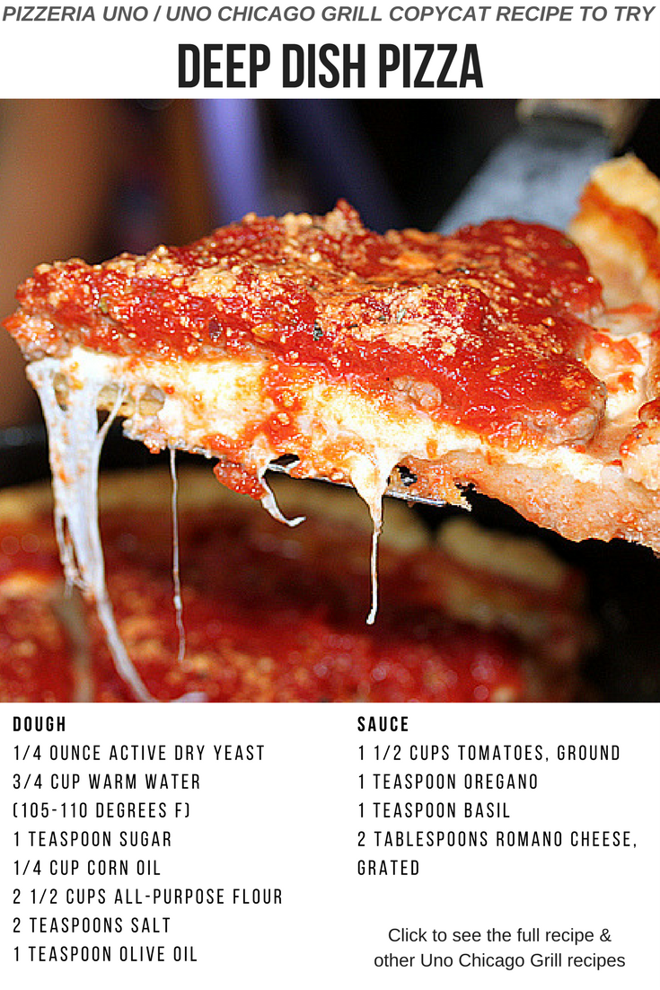 Chicago Deep Dish Pizza Copycat Recipe From Pizzeria Uno