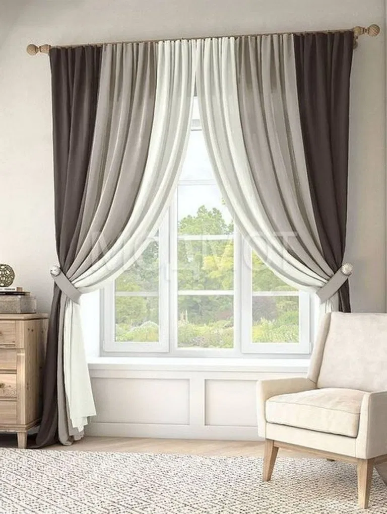 42 best modern farmhouse living room curtains decor ideas ...