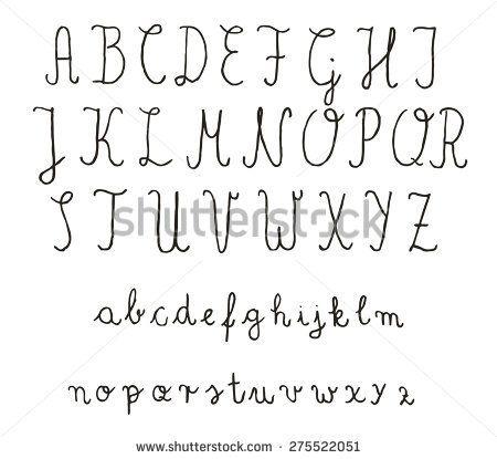 pretty ways to write the alphabet