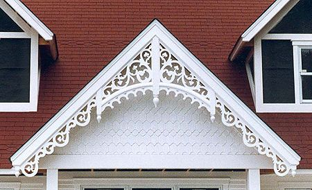 Fretwork gingerbread house trim pinterest victorian for Victorian gable decorations