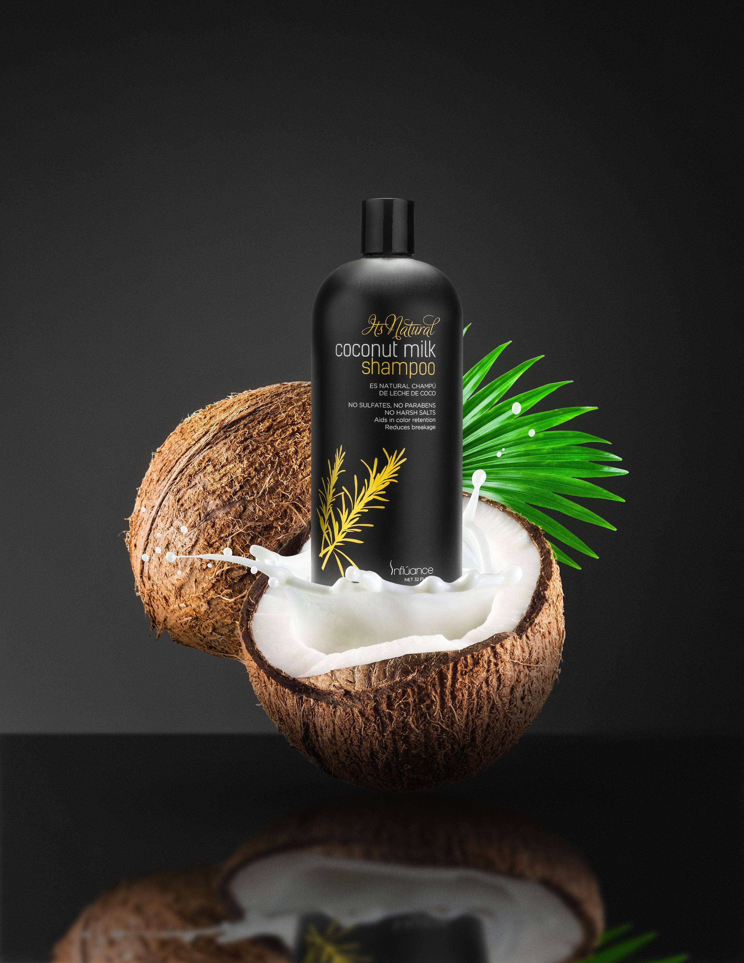 It's Natural Coconut Milk Shampoo 8oz Coconut milk
