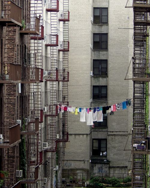 Fire Escapes And A Clothesline In Brighton Beach Brooklyn